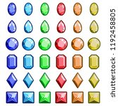 collection of gems and... | Shutterstock .eps vector #1192458805