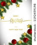 merry christmas and happy new... | Shutterstock .eps vector #1192459198