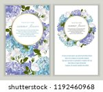 vector banners set with roses...   Shutterstock .eps vector #1192460968