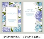 vector banners set with roses... | Shutterstock .eps vector #1192461358