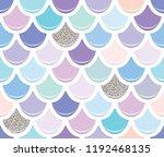mermaid tail seamless pattern...   Shutterstock .eps vector #1192468135