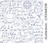 vector seamless math pattern... | Shutterstock .eps vector #1192468198