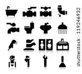 plumbing icons | Shutterstock .eps vector #119246932