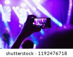recording concert with smarth... | Shutterstock . vector #1192476718