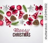 merry christmas background.... | Shutterstock .eps vector #1192494202