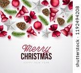 merry christmas background.... | Shutterstock .eps vector #1192494208