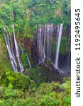 majestic view of tumpak sewu... | Shutterstock . vector #1192495645