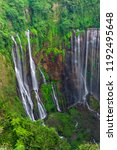 majestic view of tumpak sewu... | Shutterstock . vector #1192495648