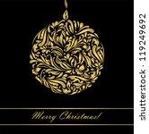 black beautiful vintage swirl... | Shutterstock . vector #119249692