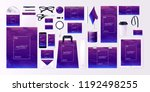 vector set kit collection... | Shutterstock .eps vector #1192498255
