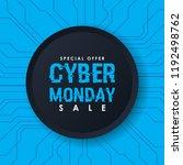 cyber monday sale banner vector | Shutterstock .eps vector #1192498762
