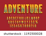 condensed 3d display font... | Shutterstock .eps vector #1192500028