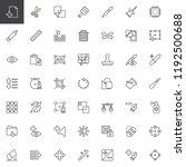 utilities outline icons set.... | Shutterstock .eps vector #1192500688