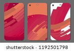 set fashionable abstract wave... | Shutterstock .eps vector #1192501798