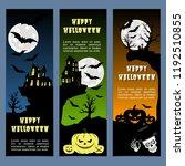 halloween banners leaflets blue ...   Shutterstock .eps vector #1192510855