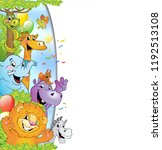 cartoon animals in multi... | Shutterstock .eps vector #1192513108