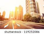 avenue in modern city | Shutterstock . vector #119252086