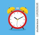 alarm clock  wake up icon. flat ... | Shutterstock .eps vector #1192525135