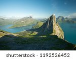 landscape view of a fjord and... | Shutterstock . vector #1192526452