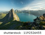 landscape view of a fjord and...   Shutterstock . vector #1192526455