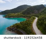 aerial view of a road in... | Shutterstock . vector #1192526458