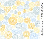 vector seamless pattern with... | Shutterstock .eps vector #1192527565