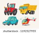 funny cute hand drawn cartoon... | Shutterstock .eps vector #1192527955