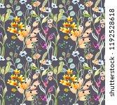 watercolor flower seamless... | Shutterstock . vector #1192528618