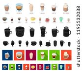 different kinds of coffee... | Shutterstock .eps vector #1192532038