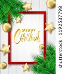 merry christmas. design with... | Shutterstock .eps vector #1192537798