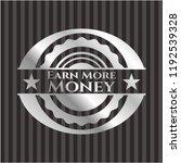 earn more money silvery badge   Shutterstock .eps vector #1192539328
