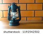 classical paraffin oli lamp put ...   Shutterstock . vector #1192542502