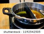 double flavor hot pot in hot...   Shutterstock . vector #1192542505