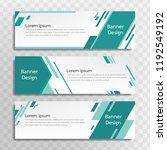 vector green banner template... | Shutterstock .eps vector #1192549192