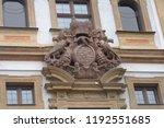 prague building and street ... | Shutterstock . vector #1192551685