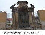 prague building and street ... | Shutterstock . vector #1192551742