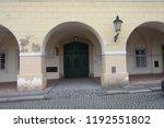 prague building and street ... | Shutterstock . vector #1192551802