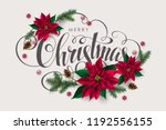christmas postcard with... | Shutterstock .eps vector #1192556155
