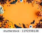 collection of halloween party... | Shutterstock . vector #1192558138