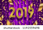 new year 2019 vector... | Shutterstock .eps vector #1192559698