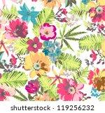 shine tropical flower pattern... | Shutterstock .eps vector #119256232