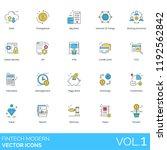 fintech modern vector icons.... | Shutterstock .eps vector #1192562842