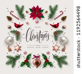 christmas greeting card with... | Shutterstock .eps vector #1192564498