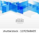 modern blue geometric shape... | Shutterstock .eps vector #1192568605