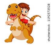 vector illustration of the boy... | Shutterstock .eps vector #1192573528