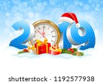 volumetric digits 2019 and... | Shutterstock .eps vector #1192577938