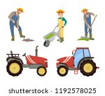 farmer and agricultural...   Shutterstock .eps vector #1192578025