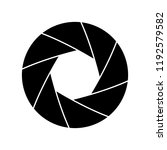 camera shutter icon  logo on... | Shutterstock .eps vector #1192579582