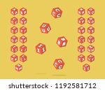 cubic font. vector alphabet... | Shutterstock .eps vector #1192581712
