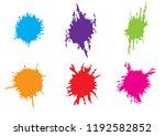 abstract vector splatter pack...